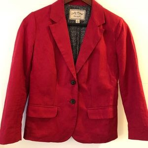 Lucky Brand Red Blazer. Deep red. EUC.